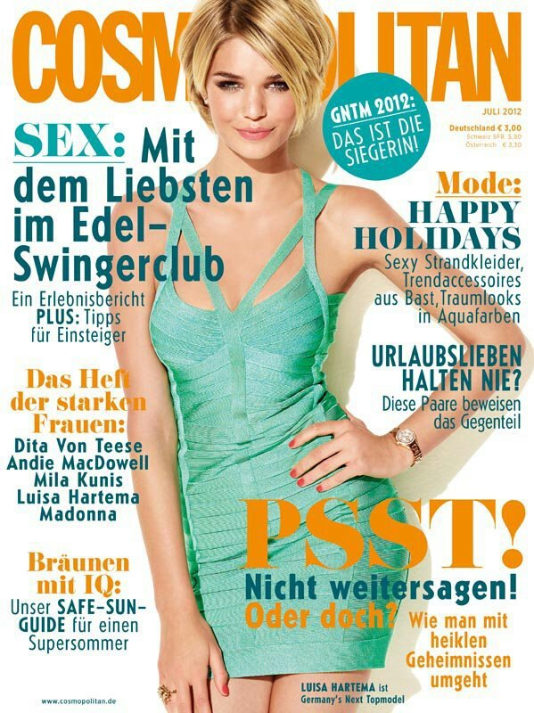 Luisa Hartema Cosmopolitan Cover