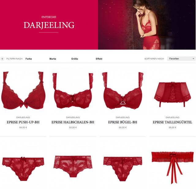 Darjeeling Lingerie Dessous Kollektion