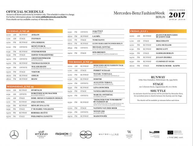 Mercedes-Benz-Fashion-Week-Berlin-Schedule-Schauenplan-Kalender-Designer-Juli-2016-Sommer