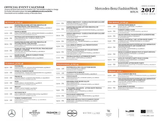 Mercedes-Benz-Fashion-Week-Berlin-Schedule-Schauenplan-Kalender-Designer-Juni-2016-Sommer