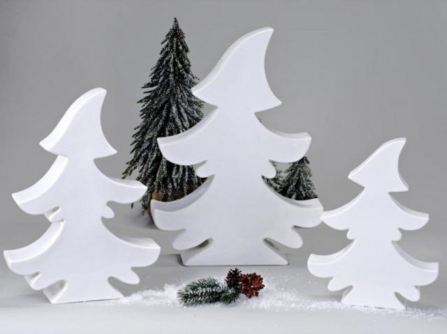 weihnachtsbaeume keramik porzellan deko weiss tanne. Black Bedroom Furniture Sets. Home Design Ideas